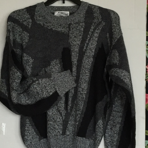 52668cbb09c897 Expressions Sweaters   Vintage 80s 90s Sweater Mens Cosby Style ...